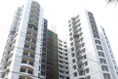 Apartments in Cochin Elevation front view
